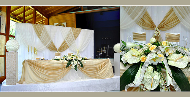 Wedding flower decoration - creme