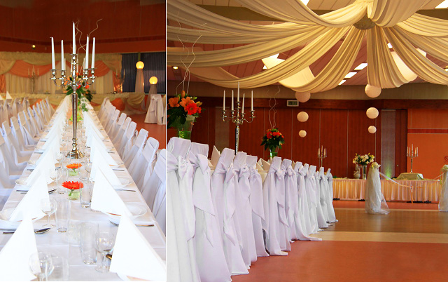 Wedding hall decoration romantic decoration for Hall decoration pictures
