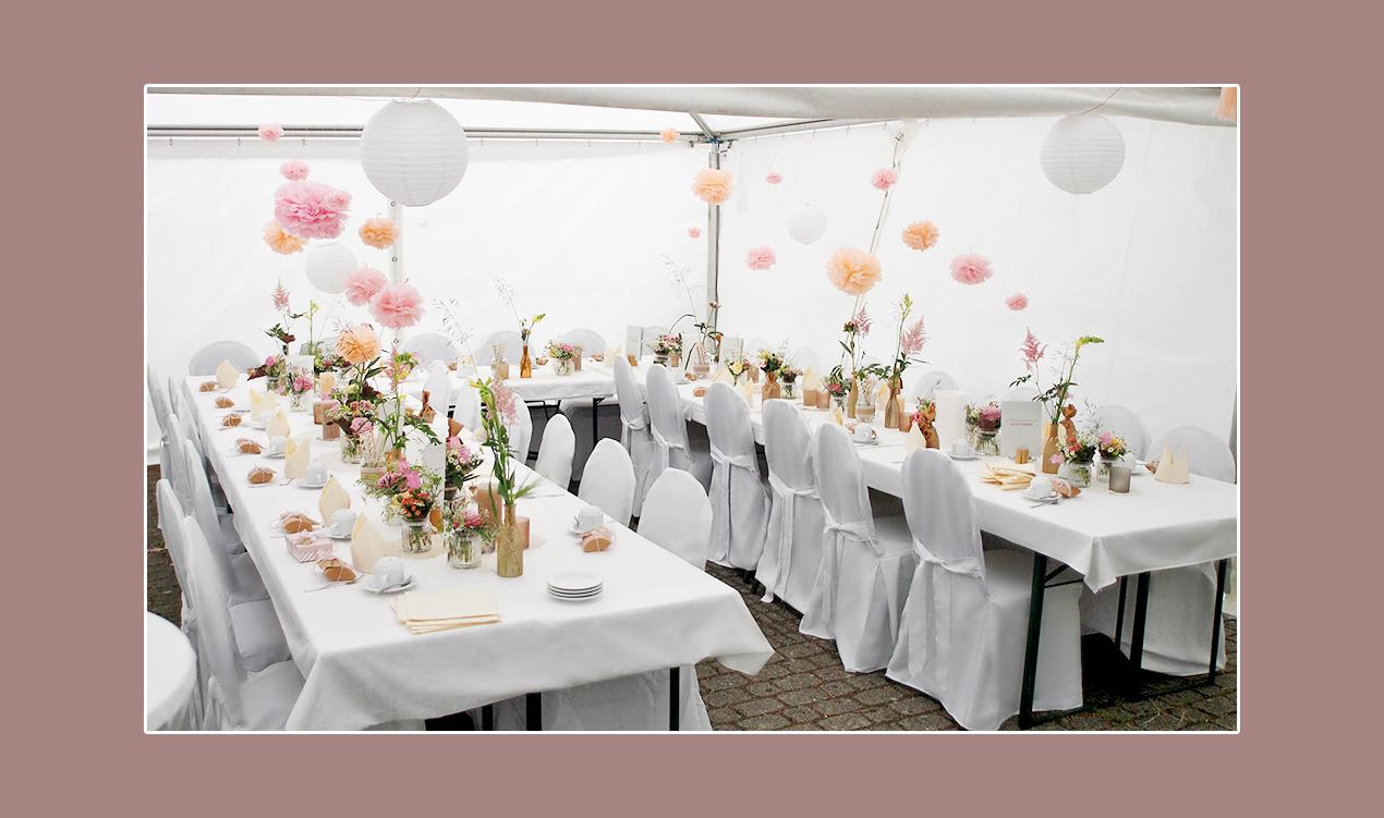Hochzeitszelt-deko